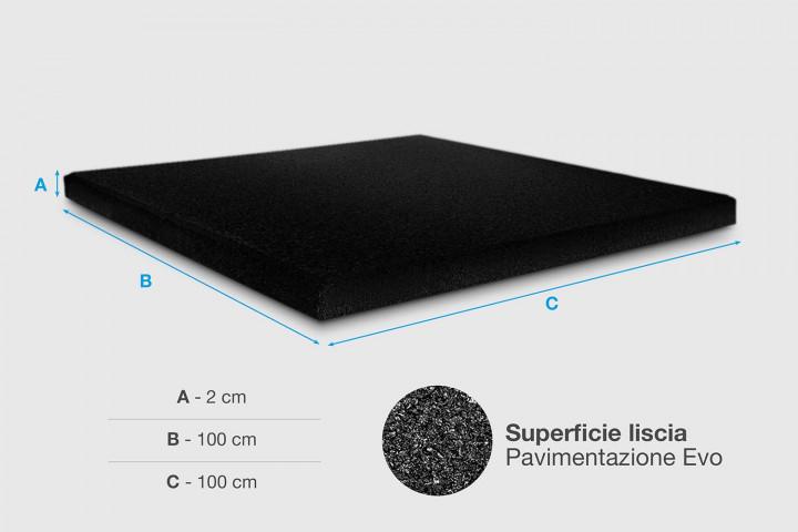 XFloor EVO - Mattonella in gomma - spessore 2 cm