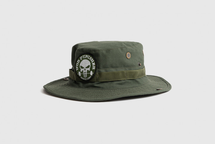Bush Hat - WOD Punisher Patch - Army Green