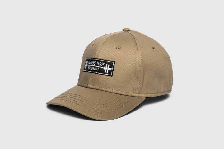 Baseball Hat - Barbell Patch - Khaki