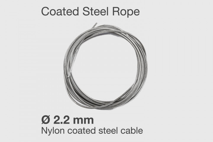 Nylon coated steel cable for Double Under-er Jump rope - Ø 2.2 mm.