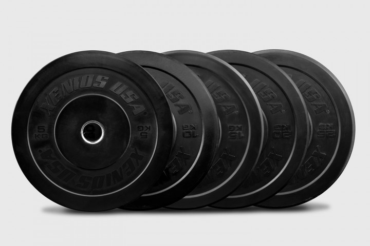 THE ESSENTIALS - ALL BLACK Rubber Training Bumper Plate