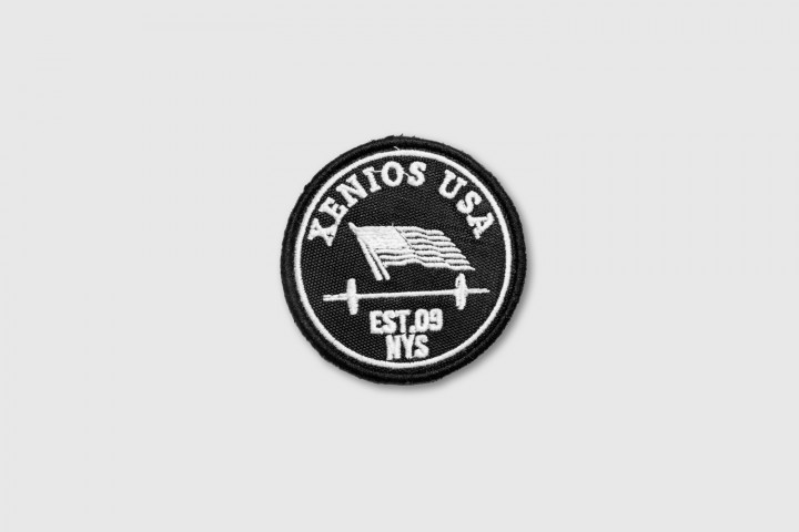 Windy US Flag Embroidered Patch - Black