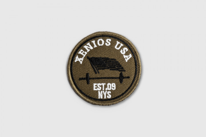 Windy US Flag Embroidered Patch - Green
