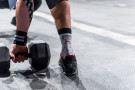 Workout Socks Wod Punisher - Red-White - Xenios USA