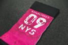 Workout Socks - Official Flag 09 - Fuchsia-White - Xenios USA