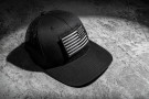 Patch - Reverse US Flag Embroidered Black
