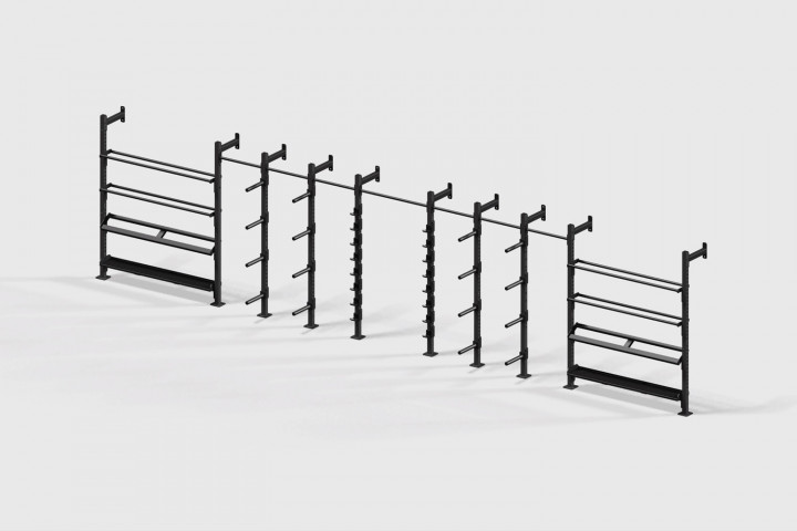 Stockage Mural pour Barres et Disques Fixation Murale