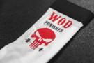 Chaussettes d'Entraînement Wod Punisher – Rouge-Blanc - Xenios USA