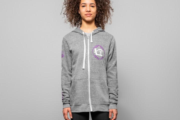 Frauen Frühlings-Kaputzenpullover (Hoodie) - VERTICAL
