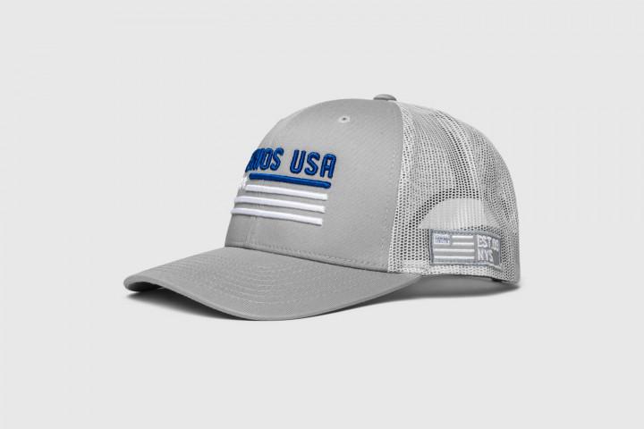 Trucker Mütze - Flag 3D - Silber/Weiss/Blau - Regelbare Grösse