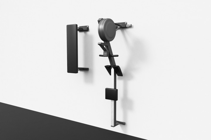 Wall Mounted Hanger for bench and rower