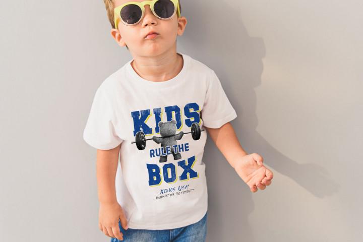 Buben T-Shirt - BEAR_KIDS RULE THE BOX
