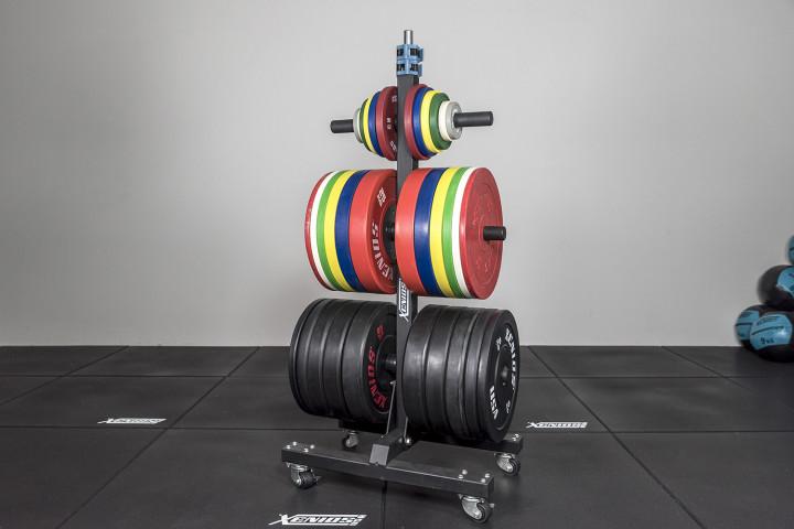 Vertikaler Plattenträger mit Rädern