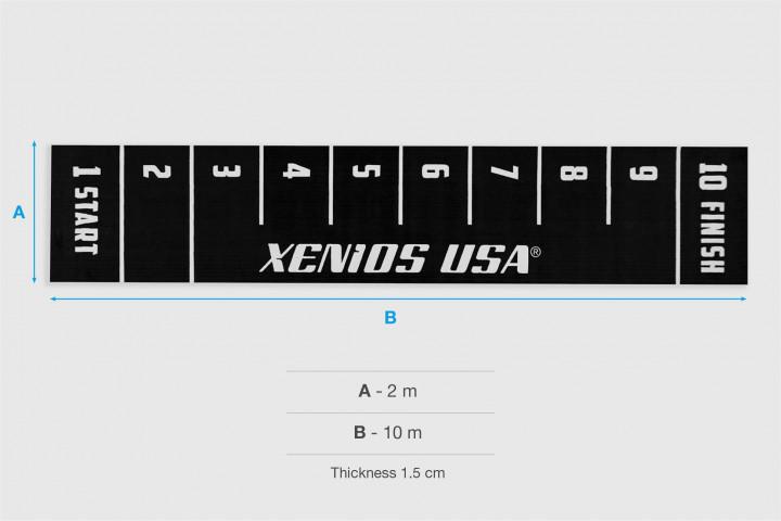XFloor - Schwarze START/FINISH Kunstrasen Piste