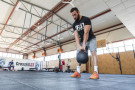 Schwarze Gusseisen Strongman Evolution Kettlebell