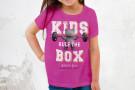 Mädchen T-Shirt - BEAR_KIDS RULE THE BOX