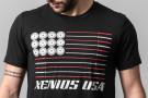 Männer T-Shirt - Xenios USA FLAGGE