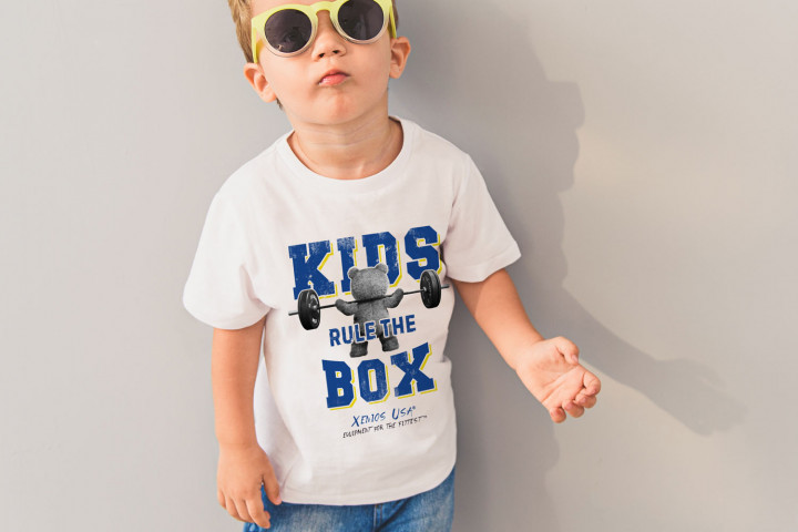 Camiseta Manga Corta Niño - BEAR_KIDS RULE THE BOX