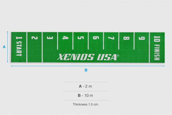 Césped Xfloor START/FINISH Serigrafiado - Verde