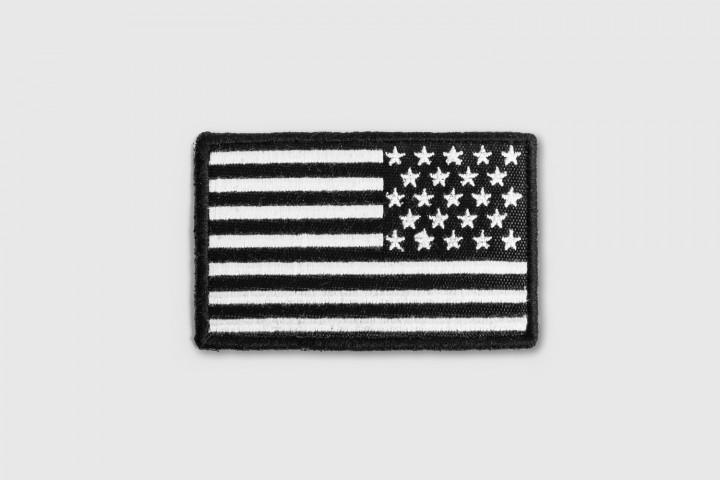 Parche Bordado - Bandera USA Inversa Negra