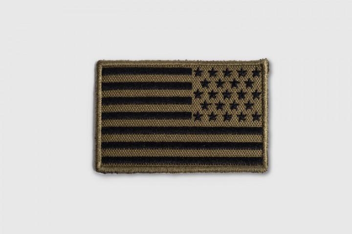 Parche Bordado - Bandera USA Inversa Verde