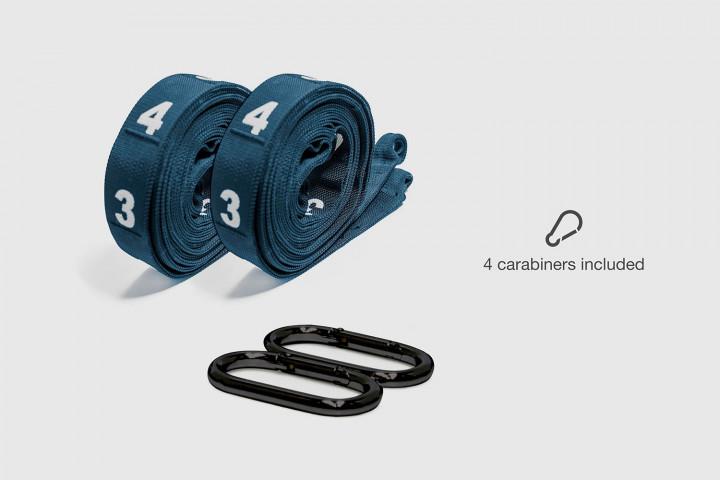 Cintas Special Competition con Mosquetones y Ojales para Anillas - 256 cm. - Azul marino