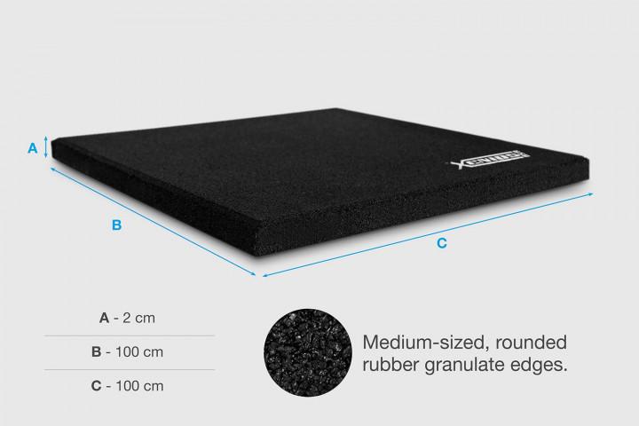 Suelo XFloor - Loseta Caucho ECHO Especial Impactos - (100 x 100 cm)