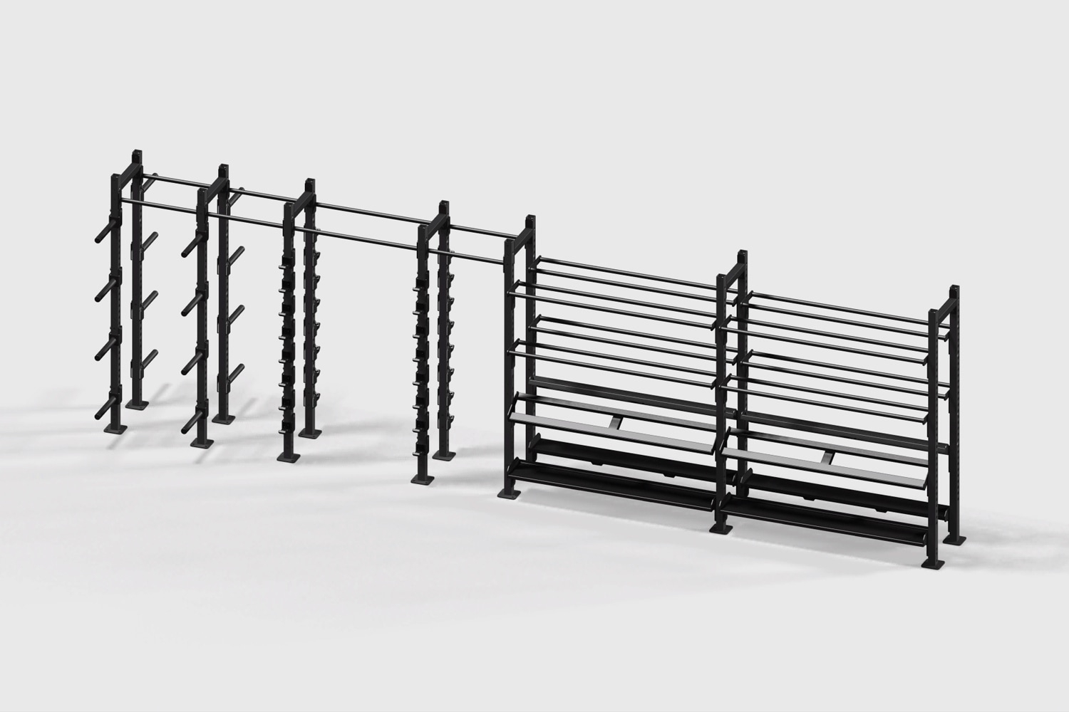 Stand Alone 2 Sides Multi-Item Storage Wall