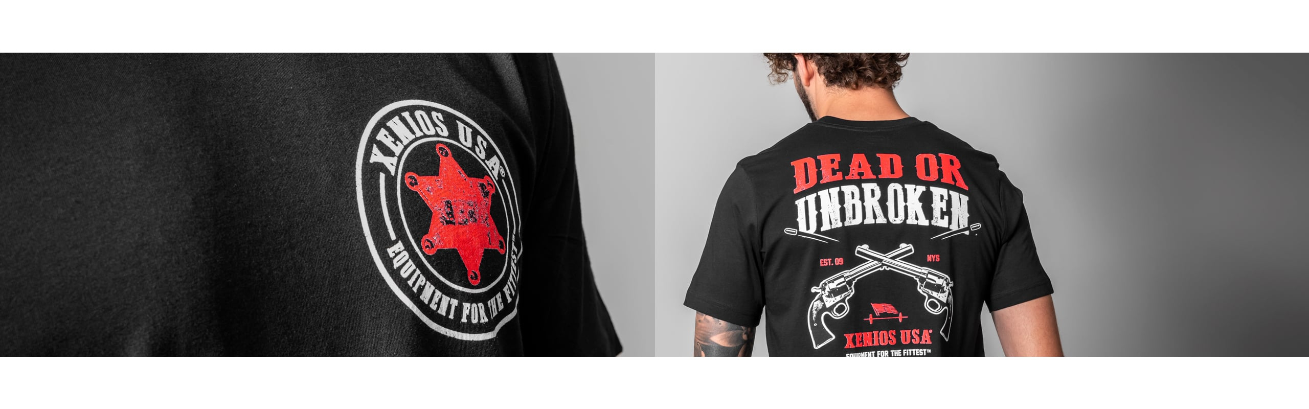 Man Tees - DEAD OR UNBROKEN